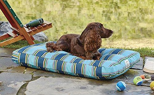 Orvis Watershed Indoor/Outdoor Platform Dog Bed Cover / Large, Blue Multi, Large