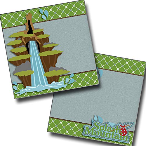 Splash Mountain NPM - Premade Scrapbook Pages - EZ Layout 3351