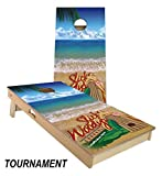 Slick Woody's Bikini Surf Cornhole Board Set 4' by 2' Tournament size