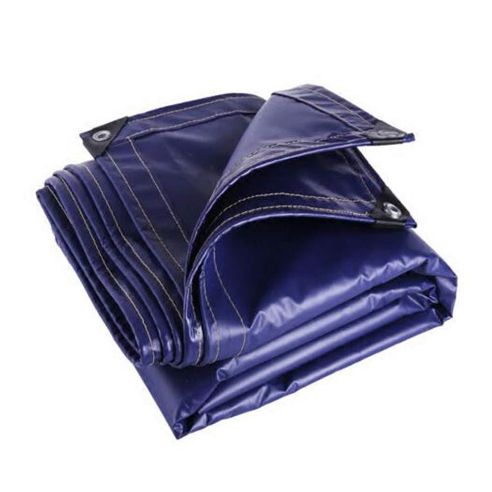 DALL ターポリン タープ アウトドア 防水 防雨布 厚い 天幕布 抗UV 550g / m2 (色 : 青, サイズ さいず : 5×5m) 5×5m 青 B07L49PP1R