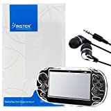 Insten Clear Snap-On Crystal Hard Case + Black / Silver Stereo In-Ear Earphone Headset Compatible With Sony Playstation Vita