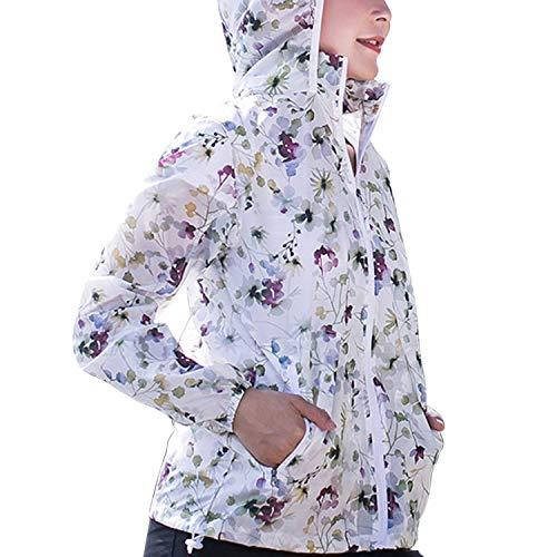 Ladies Aire Print Quick Súper Dry Flowers Al Chaqueta Summer Windbreaker De Libre Rosa Marca Mode Ligero Ciclismo Sunscreen Jacket Bolawoo Sqd4wST