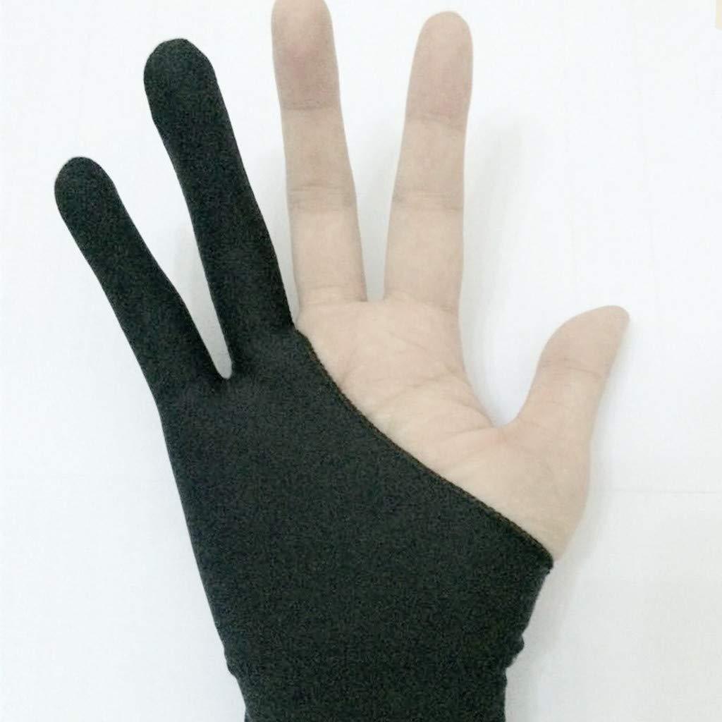 Aomili Artist Gant de Dessin Anti-salissure Noir /à Deux Doigts pour Dessin Graphique lumi/ère de tra/çage Tablette