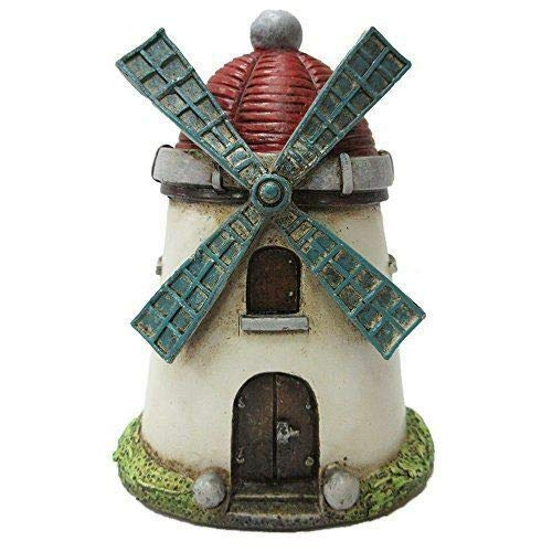 Tower Windmill (ShopForAllYou Figurines and Statues Enchanted Garden Decorative Windmill Tower Mini Fairy Garden)