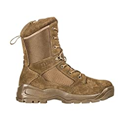 """The boot worn by the world's leading public safety personnel in a 8"""" height, the 5.11 A.T.A.C. 2.0. It's lighter and more comfortable, yet maintains its reputation for toughness and durability. A new air flow tongue and full-length dual durom..."""