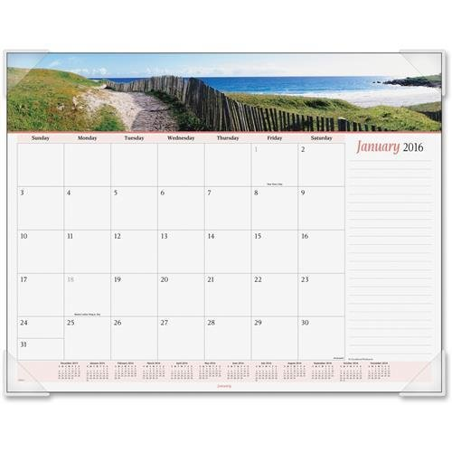 (89803 At-A-Glance Panoramic Seascape Desk Pad Calendar - Monthly - 22