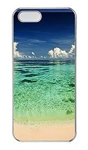 iPhone 5 5S Case Green Shore PC Custom iPhone 5 5S Case Cover Transparent