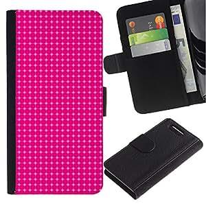 Paccase / Billetera de Cuero Caso del tirón Titular de la tarjeta Carcasa Funda para - Simple Pattern 12 - Sony Xperia Z1 Compact D5503