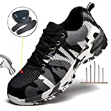 Escort Runners Steel Toe Shoes Men Non Slip Work Safety Shoes Breathable Industrial Construction Shoes Outdoor Hiking Shoes