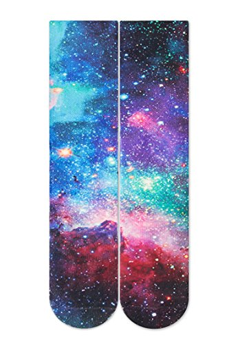 RAISEVERN Crazy Funny Novelty Nebula Galaxy Sky Pattern 3d Print Footwear Casual Athletic Sports Crew Tube Socks