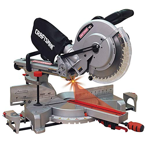 New Craftsman 12in INCH Miter Saw Single Bevel Sliding Compound Laser Guided 15A