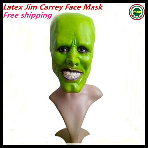 2120 NEW Halloween Party Cosplay Stag THE MASK Jim Carrey LATEX MASK - Halloween Costume Prop Jim Carrey movie film toys