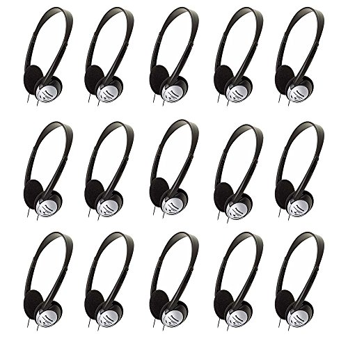 Panasonic On-Ear Stereo Headphones RP-HT21 (15-Pack) by Panasonic