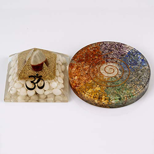 Divine Magic Healing Pyramid Energy Generator Crystal Shivling Heals Inner Anger, Fostering Love   Orgone Healing Handmade Coasters 7 Chakra Leads to Growth and Stability in Every Aspect of Our Life