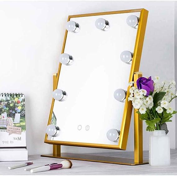AJINS Espejo de Mesa Espejo de Maquillaje LED Espejo de vanidad ...