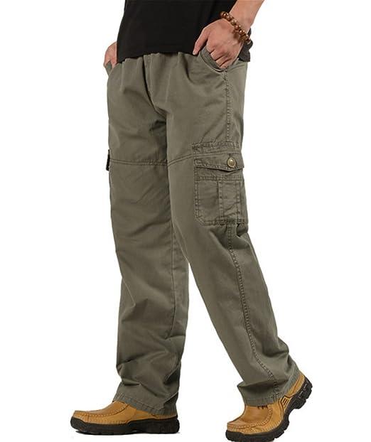 Amazon.com: Rdruko - Pantalones de trabajo para hombre ...
