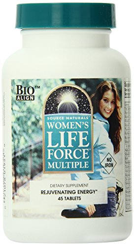 Source Naturals Women's Life Force Multiple No Iron, 45 Tablets