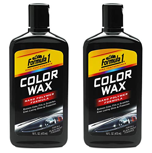 - Formula 1 Black Color Wax — Restores Color and Fills in Scratches — 16 fl. oz.