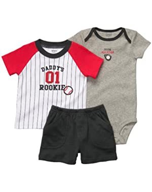 Carter's Infant Boys 3pc Set Daddy's Rookie (Newborn)