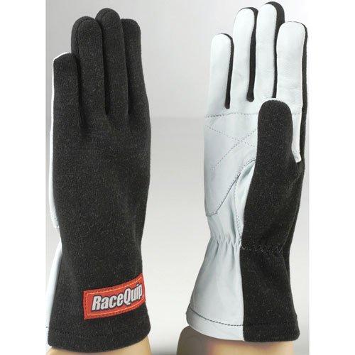 Racequip 350003 Racing Gloves-Black