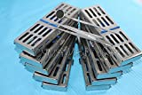 NEW SET OF 10 EACH GERMAN DENTAL AUTOCLAVE STERILIZATION CASSETTE RACK BOX TRAY FOR 5 INSTRUMENT+10 DENTAL SET FREE