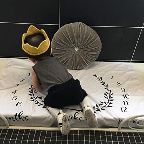 cadeau de Shower de b/éb/é 2020 Nouveau n/ée Couverture de Props de photographie Coton Mensuel Milestone Wrap Swaddle Couvertures
