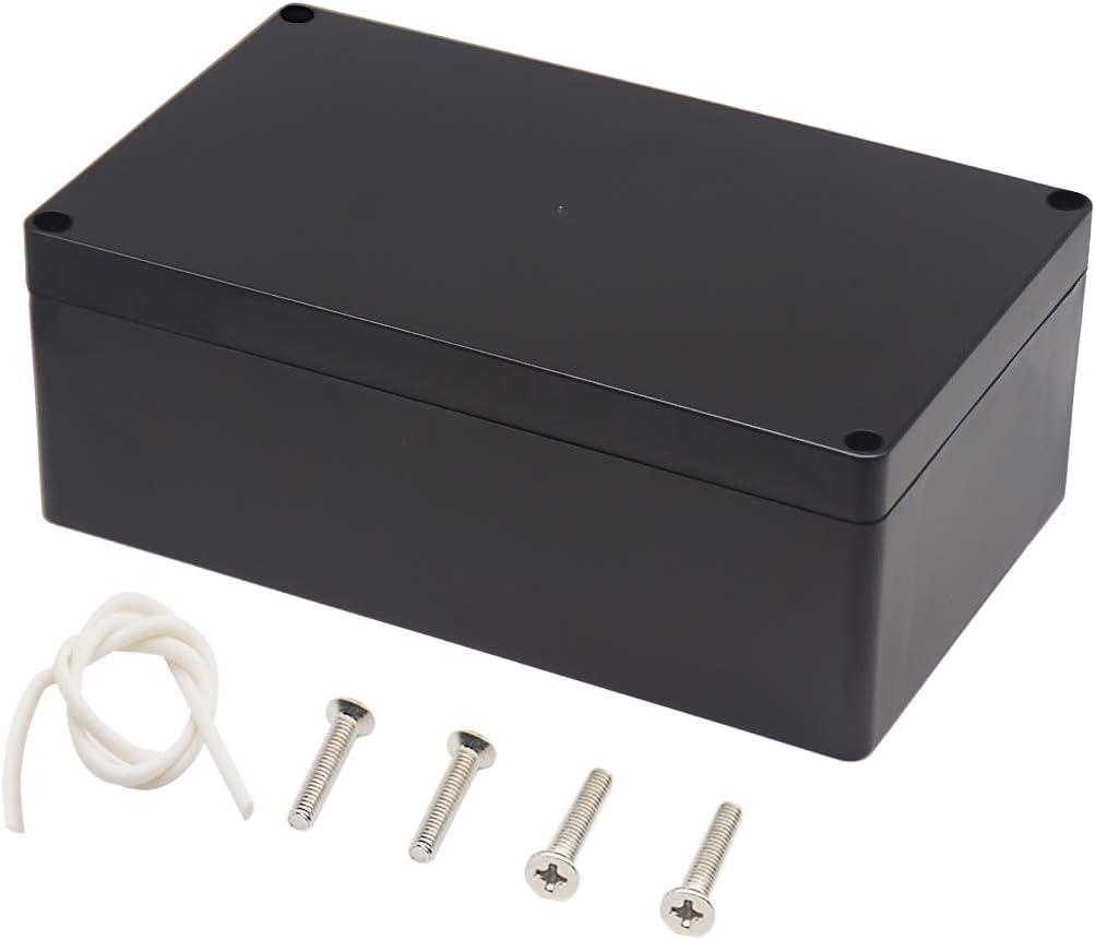 Raculety Project Box IP65 Waterproof Junction Box ABS Plastic Black Electrical B