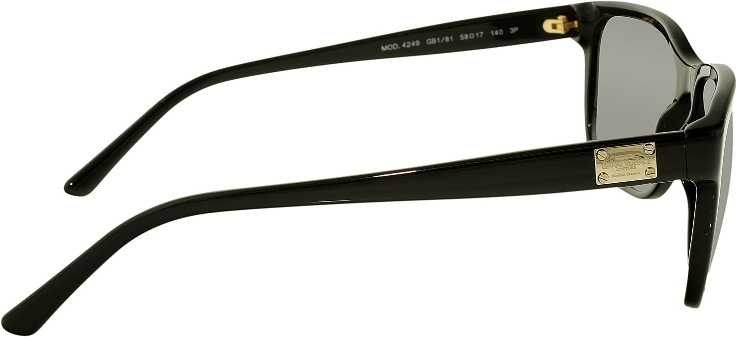 26b222c701b8b Versace Men s Polarized VE4249-GB1 81-58 Black Rectangle Sunglasses  Versace   Amazon.ca  Luggage   Bags