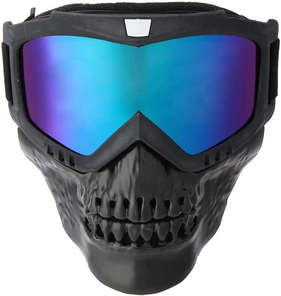 Aosiyp Cycling Goggles Outdoor Detachable Motorcycle Goggles Helmet Mask Ski Goggles Motorbike Racing Glasses with Windproof Mask Sports Safety Goggles Unisex