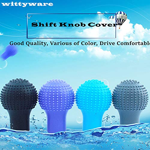 uxcell Green Soft Silicone Manual Gear Shift Lever Knob Cover ...