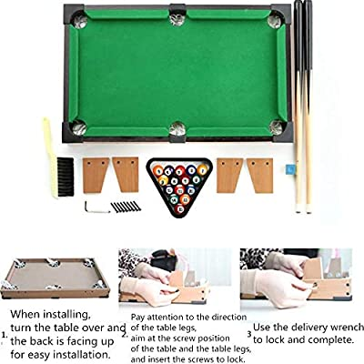 Tabla Top Pool Set De mesa de billar miniatura for adultos niños ...
