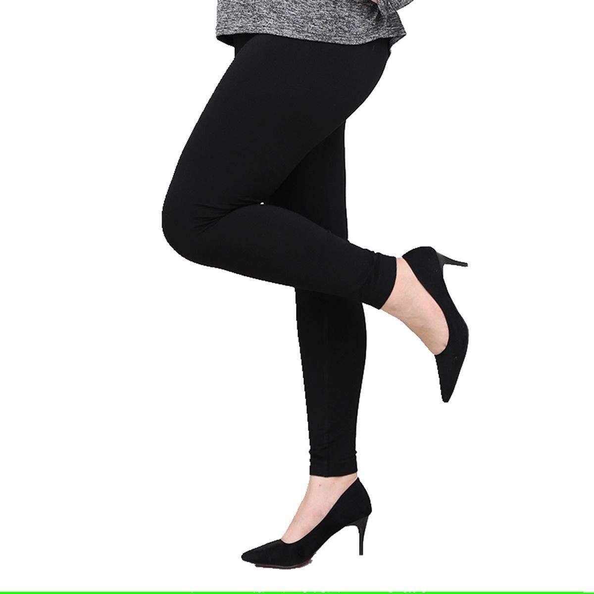SOSUSHOE Womens Plus Size Leggings High Waist Stretch Pants Extra Soft Ankle Length, Black