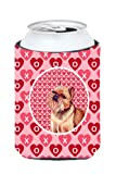 Brussels Griffon Valentine's Love and Hearts Can or Bottle Beverage Insulator Hugger