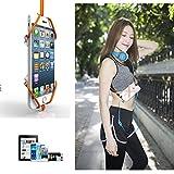 PME Universal Sport Phone Case Holder Necklace Lanyard Strap for iPhone SE 6 6S 5 5S Samsung Galaxy Note Google Nexus Moto (Black)