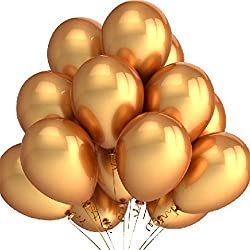 "100pcs/lot 10"" Gold Pearl Latex Balloons Round Metallic Helium Quality Balloons for Wedding Birthday Party"