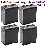 Kastar BP-U60 Battery (4-Pack) for Sony PXW-FS5, PXW-FS7, PXW-X180, PMW-100, PMW-150, PMW-150P, PMW-160, PMW-200, PMW-300, PMW-EX1, PMW-EX1R, PMW-EX3, PMW-EX3R, PMW-EX160, PMW-EX260, PMW-EX280, PMW-F3