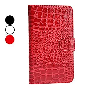 Wohai Gadget Mall - Patrón de la piel del cocodrilo PU Funda de cuero para Samsung Galaxy Note N7100 2 (colores surtidos) , Rojo