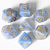 UDIXI 7PCS Polyhedral Resin Dice, D&D Dice, Sparkle Galaxy DND Dice Set- for Role Playing Dice Games as Dungeons and Dragons RPG MTG Table Games
