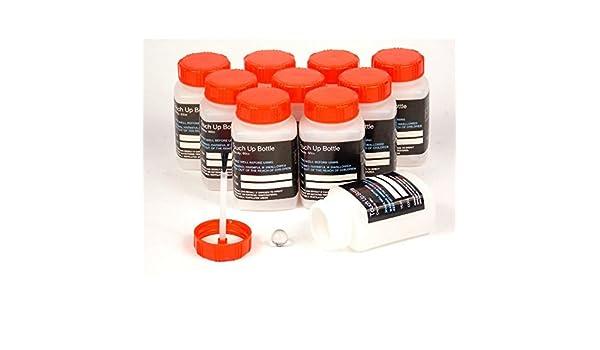 10 Plástico Pintura Touch Up macetas botellas vacías (cepillo en la tapa) con lacado Diluyentes: Amazon.es: Coche y moto