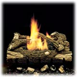 Monessen Charred Hickory Ventless Gas Logs - Remote Ready - 24 inch - Natural Gas