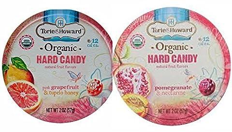 2 Pack Torie & Howard Hard Candy (Grapefruit & Tupelo Honey; Pomegrante & Nectarine) - Honey Nectarine