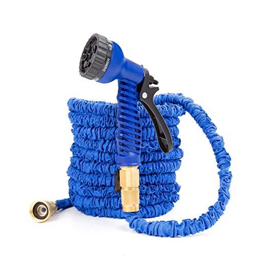 Homsoph Expandable Hose,Garden Hose,Orbit sprinklers, Colapsable Hose Heavy Duty, 50ft, As seen on tv, Ideal for Gardening,