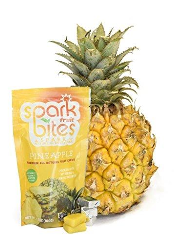 Price comparison product image Spark Fruit Bites Pineapple Premium All Natural Fruit Chews 3.5oz pouch
