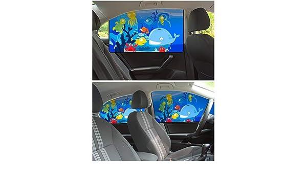 NBMNM Parasol Coche Magnético, Dibujos Animados Protector Solar De Ventana Lateral Sombrilla De Coche Aislamiento Protector Solar, Conjunto De 3 Piezas: Amazon.es: Deportes y aire libre