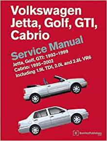 Volkswagen Jetta, Golf, GTI: 1993, 1994, 1995, 1996, 1997, 1998, 1999  Cabrio: 1995, 1996, 1997, 1998, 1999, 2000, 2001, 2002 (A3 Platform)  Service Manual: Bentley Publishers: 9780837616605: Amazon.com: Books  Amazon.com