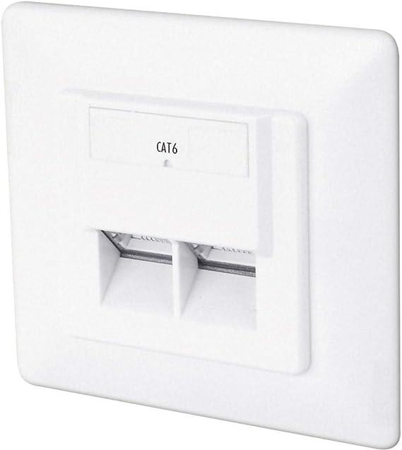 DIGITUS Professional 1 Gbit DN-9005-N Toma de pared red Cat 6 Instalaci/ón de cable horizontal Montaje empotrable