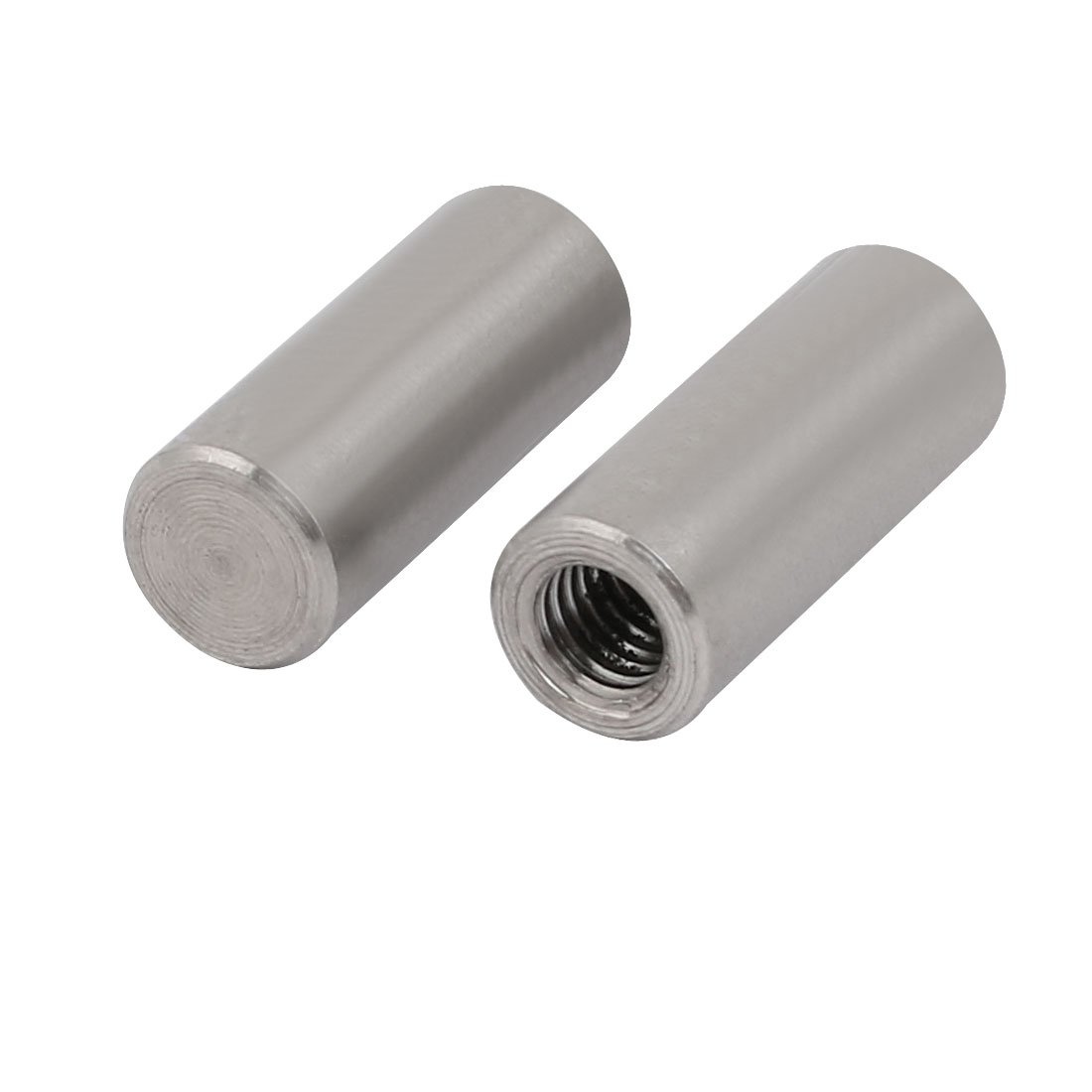 sourcingmap 304 Stainless Steel M5 Female Thread 8mm x 20mm Cylindrical Dowel Pin 2pcs a17110100ux0082