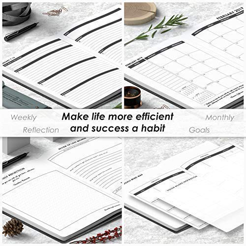 Wordsworth Planner 2019 Daily & Weekly Agenda to Achieve Your Goals & Live Happier - Gratitude Journal & Productivity Organizer (Compact A5 Size) - Bonus eBooks & Stickers Photo #5