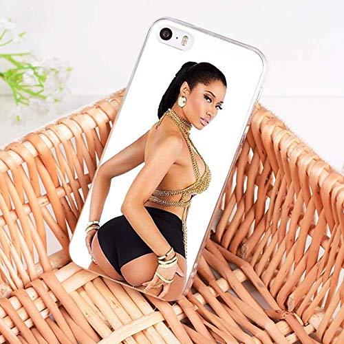 Cute White Nicki Minaj iPhone 6 Case Hip-Hop Rapper Singer Model Onika Tanya Maraj 6S Cover Nicki Yamaguchi Young Cash Money Hottest MC Hip Hop Rap R&B Pop Dance Music Actress, TPU