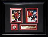Midway Memorabilia probert-cards-blackhawks Bob Probert Chicago Blackhawks NHL - 2 Card Frame
